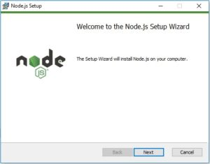 NodeJS windows installation wizard