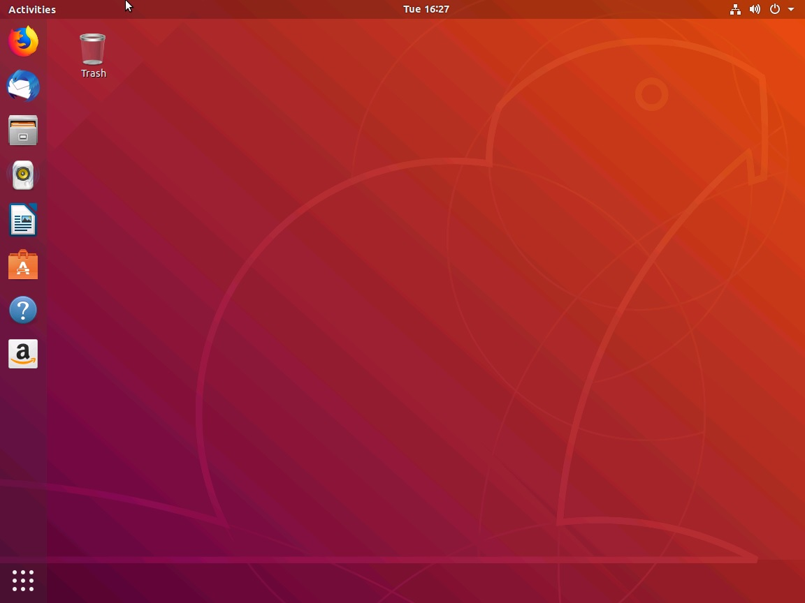 Ubuntu Desktop Screenshot