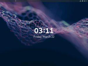 Fedora Workstation 29 Start Up screen