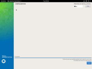 Fedora Workstation 29 - Installation Complete