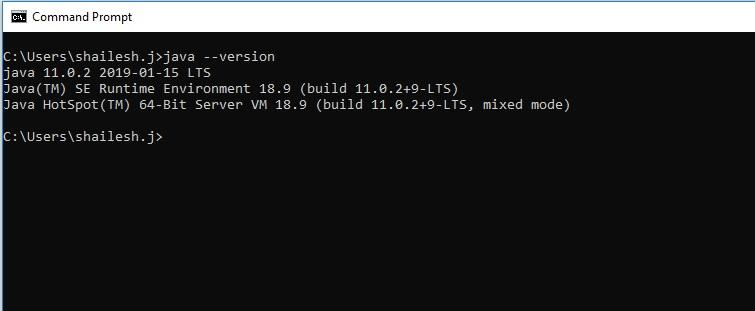 Command Prompt - Check Java Version