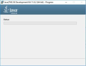 Java 11 JDK Installation progress
