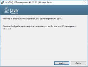 Java 11 Installation - Setup Wizard