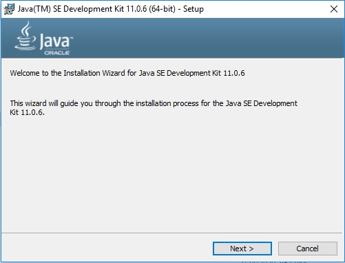 Java 11 Installation – Setup Wizard
