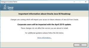 Java SE JDK 8 - Change in Licence