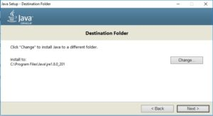 Java SE JDK 8 Installation - Specify JRE destination folder