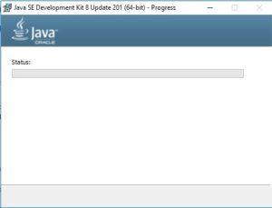 Java SE JDK 8 Installation Progress