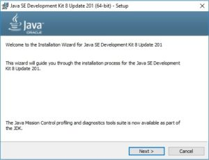 Java SE JDK 8 Installation Wizard