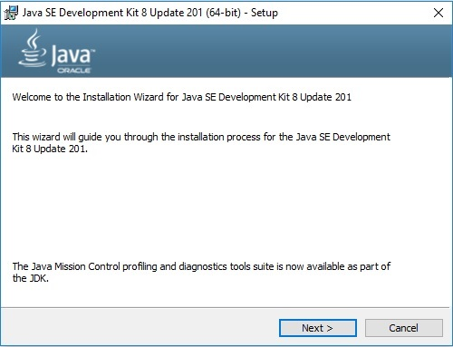 Java SE JDK 8 Installation Wizard