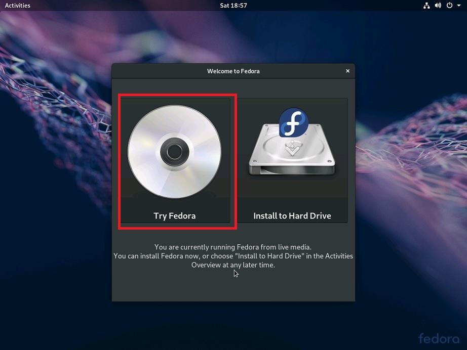 Fedora Workstation 29 - Try Fedora