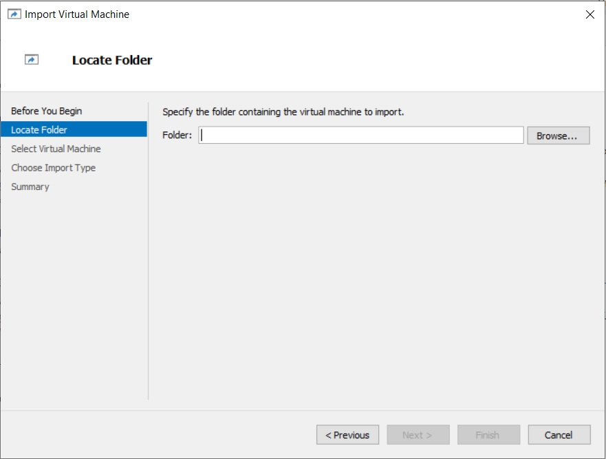 Hyper-V - Import Virtual Machine Wizard - Specify Image location