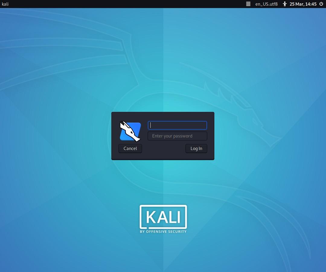Kali Linux Login