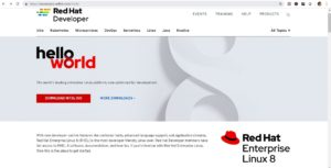 Red Hat Linux Enterprise Linux 8 - Web page