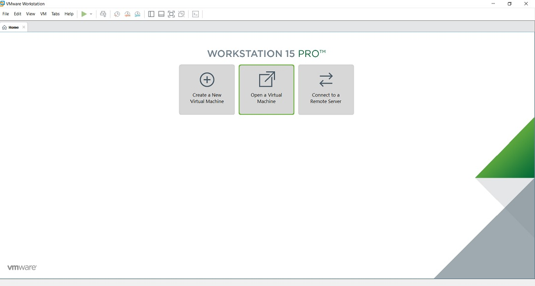 VMware Workstation - Open Virtual machine