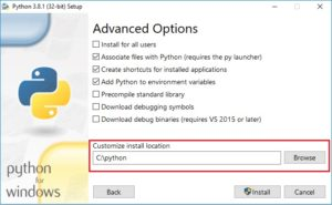 Python Installation - advanced options