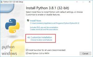 Python Installation setup