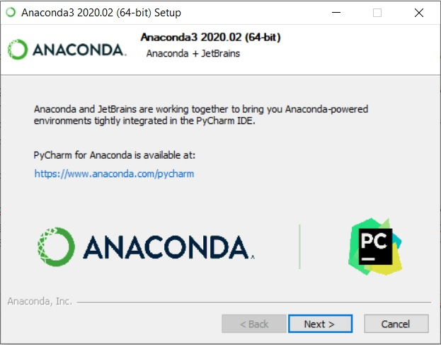 Anaconda Installation - PyCharm and Anaconda integration message