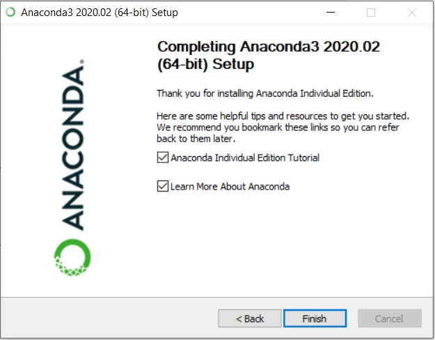 Anaconda Installation Complete Message