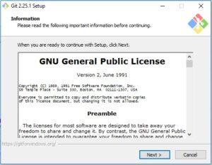 Git scm Installation - setup dialog box