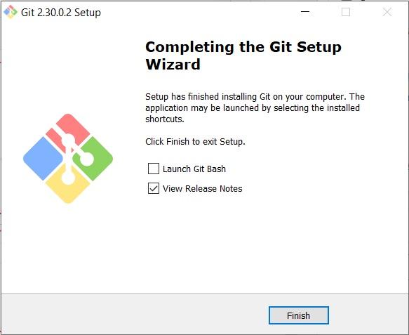 GIT scm - installation complete