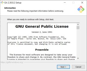 Git scm Installation – setup dialog box