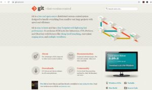 Git website - download page screenshot