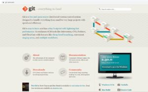Git website – download page screenshot