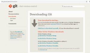 Git-scm website - Windows Installer download