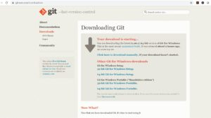 Git-scm website - Windows Installer download