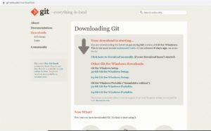 Git-scm website – Windows Installer download