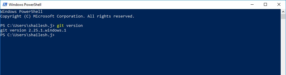 Powershell - Git version check