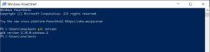 Powershell - Git version check