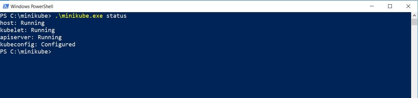 Powershell - Minikube Status