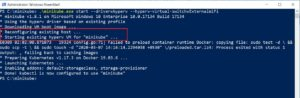Powershell - minikube restart