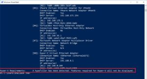 Windows systeminfo command output