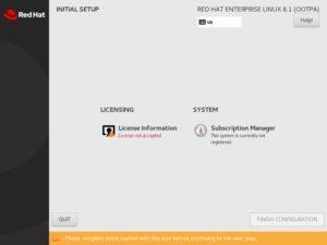 Red Hat Enterprise Linux 8 - Initial Setup