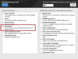 Red Hat Enterprise Linux 8 - Software Selection