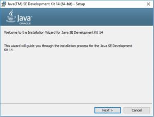 Java 14 Installation – Setup Wizard