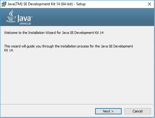 Java 14 Installation – Setup Wizard