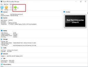 VirtualBox – Start VM