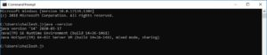 Command Prompt - Check Java Version